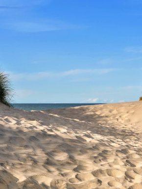 Camping sur la cote d'Opale : vue de la plage à proximité des Dunes